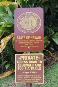 Manoa Hiking Trailw